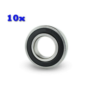 10pc Premium 6909 2rs Abec1 Rubber Sealed Deep Groove Ball Bearing 30 X 47 X 9mm