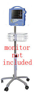 Rolling Roll Stand For Dinamap Pro 1000 Patient Monitor New small Wheel