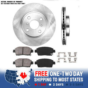 Front 255 Mm Brake Disc Rotors And Ceramic Pads Kit 2004 2005 2006 Scion Xa Xb