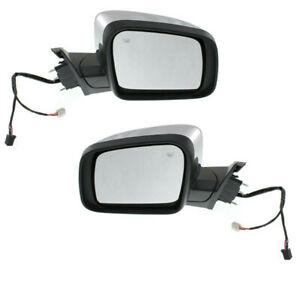 11 15 Gr Cherokee Power Heat Signal Lamp Chrome Mirror Left Right Side Set Pair