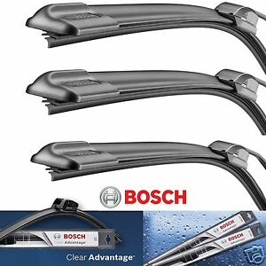3 Bosch Clear Advantage Wiper Blade Size 20 20 18 Front Left Right And Rear