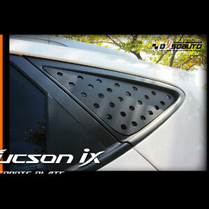 Window Black C Pillar Circle Plate Basic Type For Hyundai Tucson Ix35 2011 2015