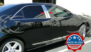Fit 2012 2014 Toyota Camry 4pc Chrome Pillar Post Stainless Trim Door Cover