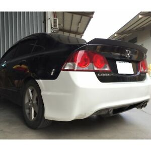 Flat Black 982 Itl Type Trunk Spoiler Wing For Honda Civic 1996 2001 Sedan Coupe