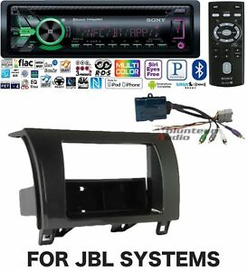Sony Car Stereo Radio Bluetooth Cd Player Dash Install Mount Kit Harness 3y Warr