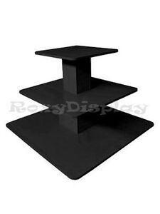 3tier Table Black Color Clothing Clothes Display Racks Stands 3tier48bk rk