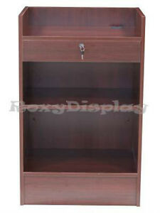 Cherry Cash Register Stand Top Shelf Display Store Fixture Knocked Down scr cc