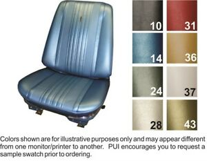 1970 Chevelle Front Buckets Coupe Rear Seat Covers Bright Blue Pui
