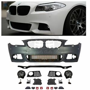 Bmw F10 Mtech Style Front Bumper Kit With Fog Lights For 2011 13 Bmw F10 W Pdc