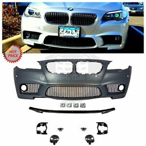Bmw F10 M5 Style Front Bumper For 2011 2013 5 Series Sedan W Pdc W Fog Lights