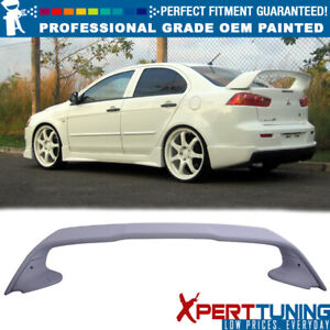 08 17 Mitsubishi Lancer Painted Abs Trunk Spoiler Oem Painted Color