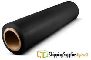 80 Ga 15 1500 Black Pallet Hand Wrap Plastic Stretch wrap 256 Rolls 64 Cases