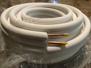 50 Feet 1 4 X 1 2 Insulated Copper Mini Split Ductless Line Set For Ac