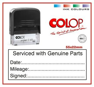 Colop Printer Self Inking Rubber Stamp 55x22mm Business Service Mechanic Garage