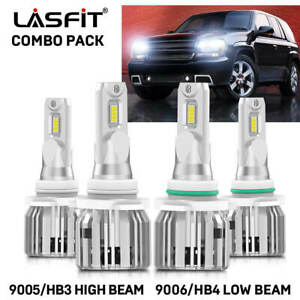 Combo 9005 9006 Led Headlight Bulb For Chevrolet Tahoe 1995 2006 High Low Beam
