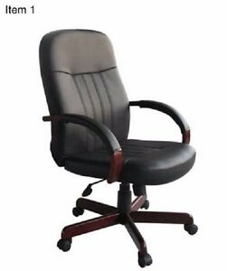 Office Chairs Black And Brown Wood Roller Chairs Ergonomic Desk Chair Executive