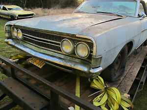 1968 Ford Torino Fairlane Ranchero Gt Oem Grille Complete With Rings