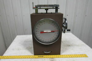 Chatillon Mst 250 Manual Spring Test Stand 250 Lbs X 5 Lbs W 11 Dial Face