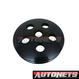 Black Billet Aluminum Type 2 Ii Power Steering Pump Pulley Swp Small Block Chevy
