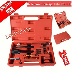 Glow Plug Removal Remover Extractor Tool Kit Damaged 8mm 10mm 16pcs Usa Shipping