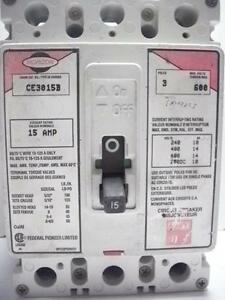 Federal Pioneer Horizon Ce3015b 15a Circuit Breaker Tested