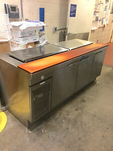 Restaurant Equipment Sandwich Make prep Table 3 Refrigerated Sections Exc Cond