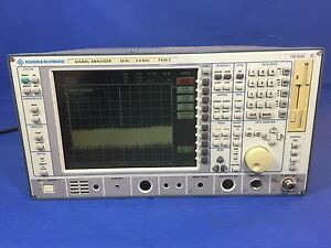 Rohde Schwarz Rs Signal Analyzer Spectrum Analyzer Fsiq3 20hz 3 5ghz Tested