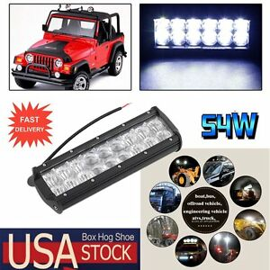 1x 10inch 54w Cree Led Light Bar Spot Work Light Jeep 4wd Offroad Truck Lamp Oy