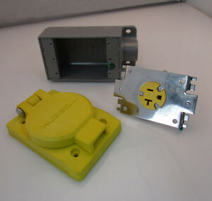 Marine Receptacle 125v 20a Hubbell Hbl60w33h With Fs 2 Box