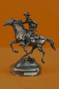 Handcrafted Bronze Sculpture Sale Horse Riding Man Trooper Thomas