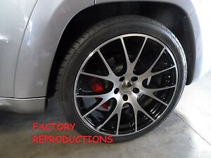 22 Staggered Machined Hellcat Style Jeep Grand Cherokee Durango Wheels Rims Set