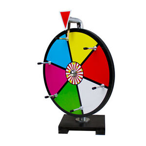 12 Color Prize Wheel Dry Erase Table Top Fall Carnival Fund Raiser Trade Show