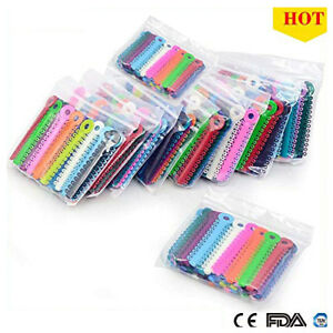 Multi Color Dental Orthodontic Ligature Ties Elastic Rubber Bands Braces Rings