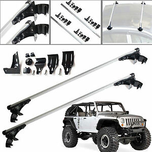 For Jeep Wrangler 47 Inch Car Top Luggage Cross Bar Roof Rack Carrier Skidproof