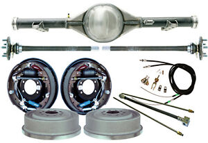 Currie 60 62 Chevy C10 5 Lug Truck Rear End 11 Drum Brakes Lines Cables Axles