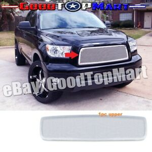 For Toyota Tundra 2007 2008 2009 1pc Upper Main Polished Mesh Overlay Grille