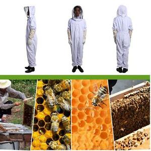 Pro Cotton Full Body Beekeeping Bee Keeping Suit Gloves With Veil Hood Xxl