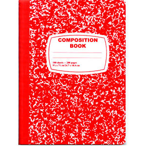 48 Marble Composition Notebooks Red Cover back 100 Sheets Wide Rule