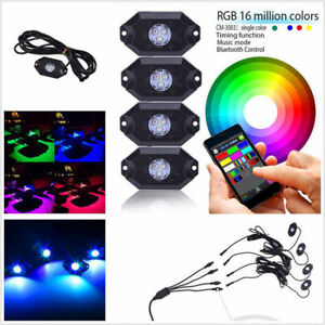Boat Rgb Music Led Waterproof Ip67 Wireless Bluetooth 4 0 Led Rock Lights 9 30v