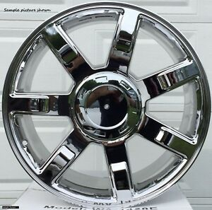 4 New 22 Chrome Wheels Rims For 1999 2017 Cadillac Escalade 139