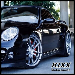 20 Rohana Rf2 20x9 12 Forged Silver Wheels Porsche 997 911 Carrera 4 4s Turbo