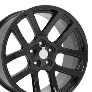 22x10 Wheel Fits Dodge Ram Trucks Ram Srt Style Gloss Blk 2223 Rim W1x