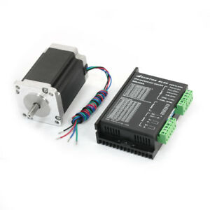 Nema24 4 Lead Cnc Router Robot Stepper Motor 90mm 4a 368oz in W Mb450a Driver