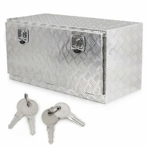 36 Aluminum Underbody Underbed Tool Box Storage With T Handle Latch Keys
