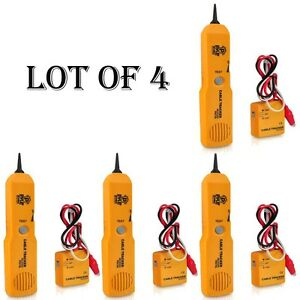 4 Pyle Telephone Wire Cable Tester For Testing Continuity W Sender