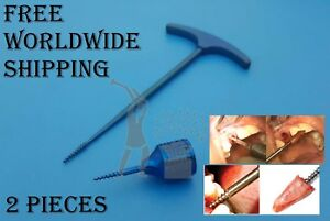 Dental Screw Root Extraction Periotome Set 2 Piece Dentist Tools Equipment