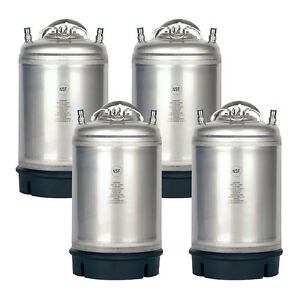 4 Pack New 3 Gallon Ball Lock Kegs Homebrew Beer Cold Brew Free Shipping
