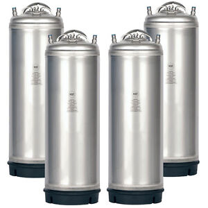 4 Pk New 5 Gallon Ball Lock Kegs Amcyl Homebrew Beer Soda Free Shipping