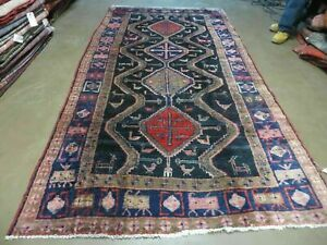 5 X 9 Antique Hand Made Persian Hamadan Kurd Mahal Wool Rug Vegy Dyes Runner