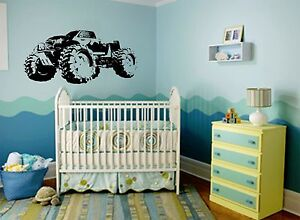 Baby Room Monster Truck Wall Decal Sticker Art Your Home Wall Mural Decor